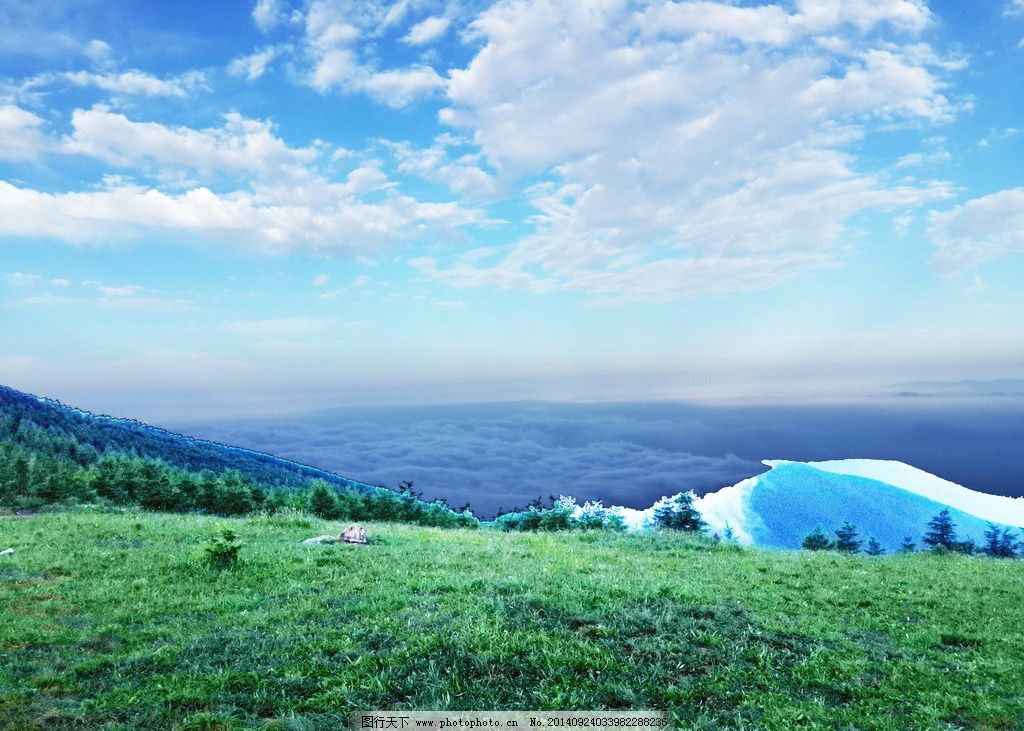山峰 天空 蓝天 白云 百花山 草坪 树 国内旅游 摄影 摄影