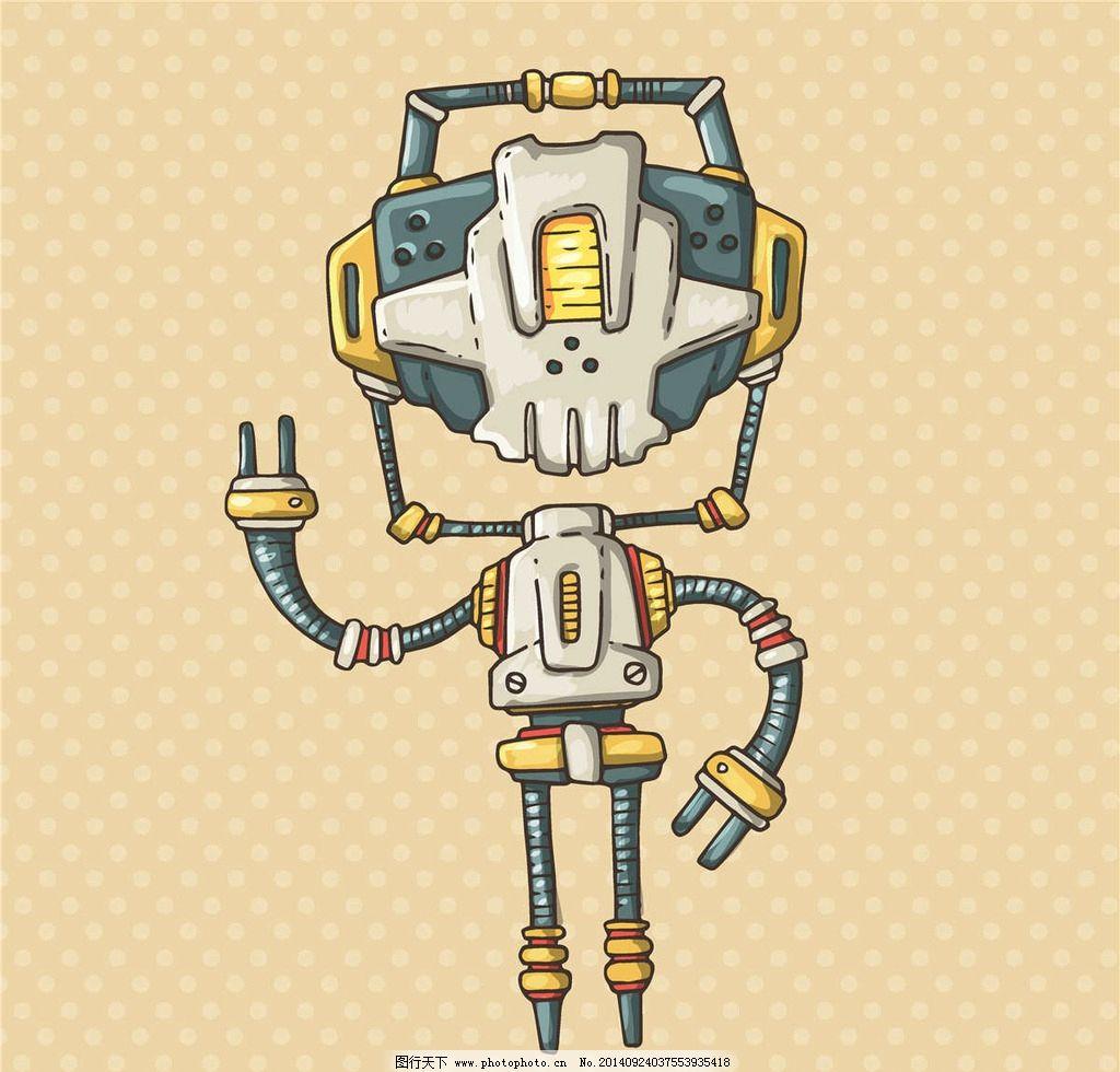 科幻机器人-robot卡通