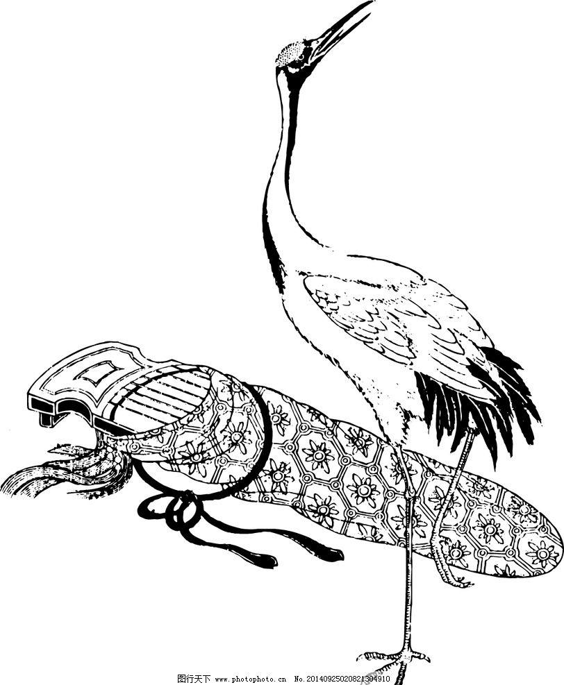 鸟鹤 飞禽 动物 矢量图片