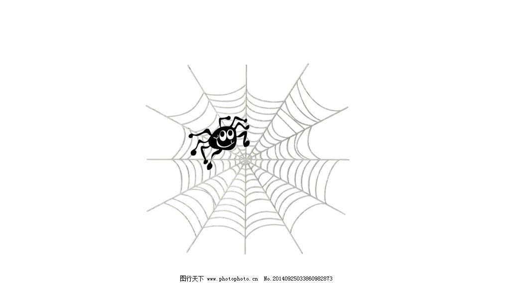 蜘蛛 蜘蛛网 万圣节 剪影 黑白灰 设计 其他 图片素材 ai