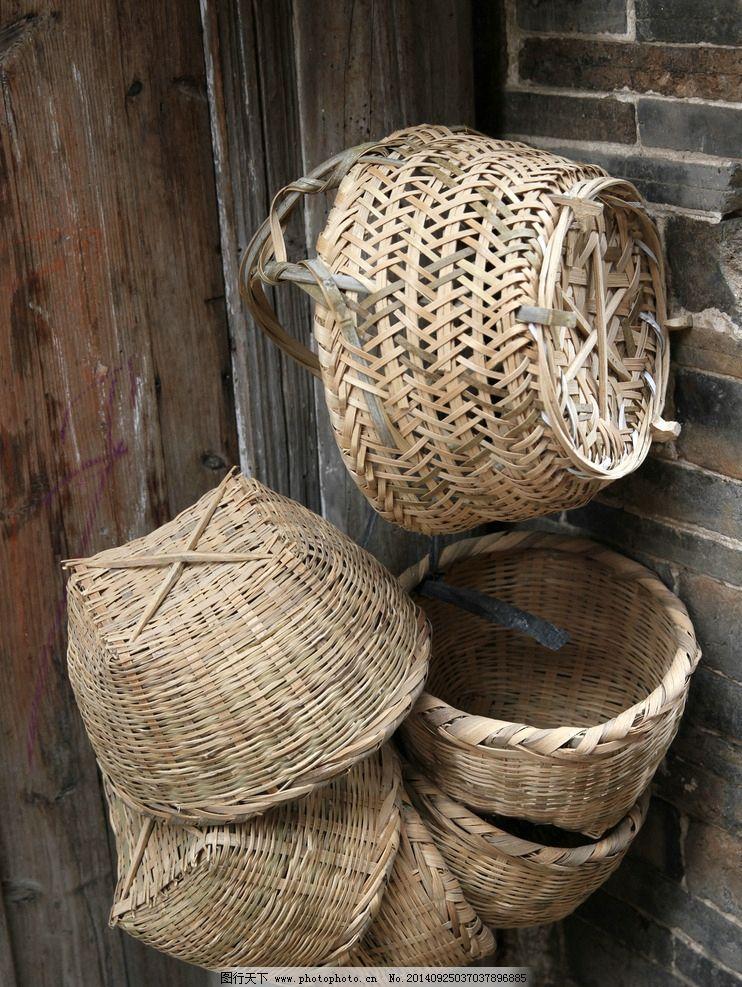 竹篮的线描绘画步骤