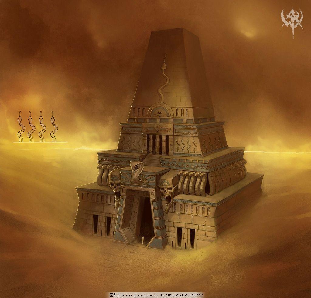 沙漠 金字塔 素材 背景