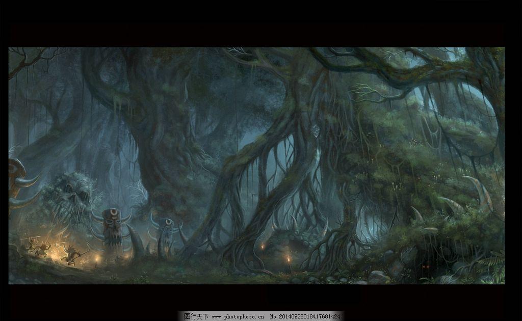 素材 黑暗/黑暗森林素材图片图片