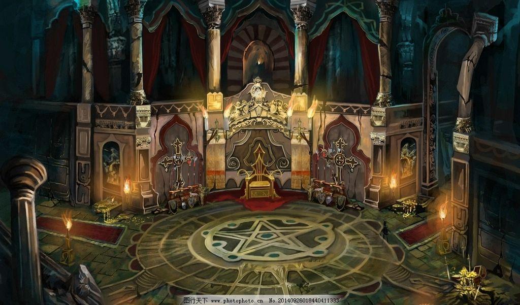 城堡游戏素材图片