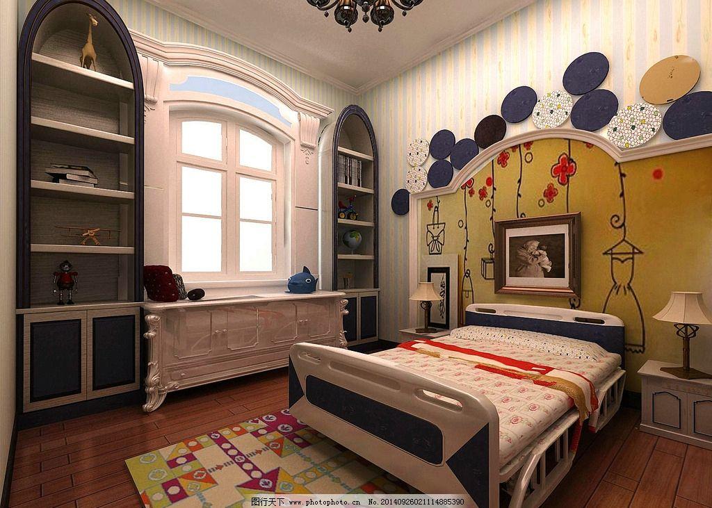 欧式风格 儿童房 3d 室内设计         设计 3d设计 室内模型 72dpi j图片