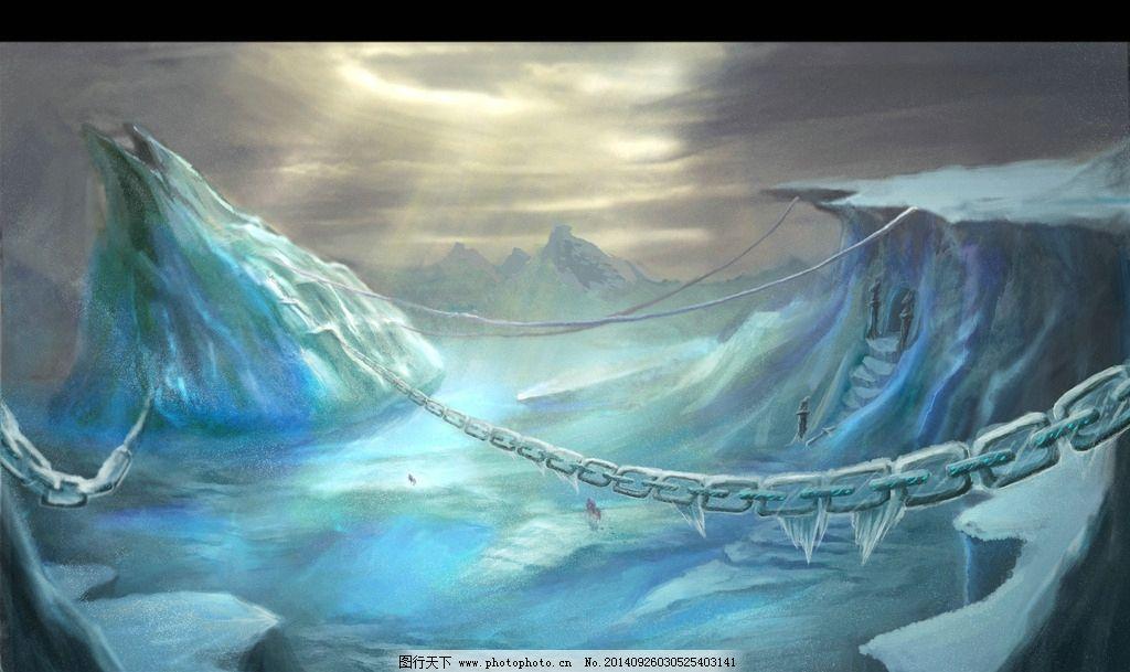 冰山平原游戏素材图片