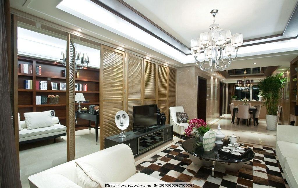 样板房 客厅设计 装修 高档装修 餐厅设计 书房 吊灯 欧式灯
