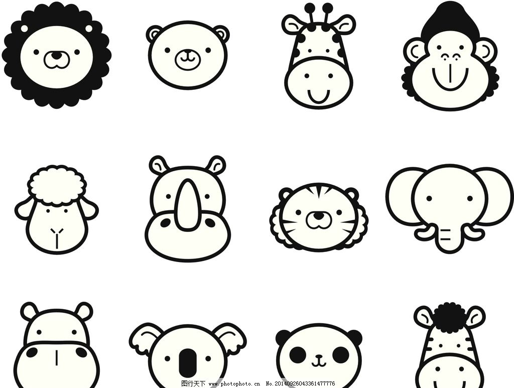 动物      狮子 大象 卡通 动漫 河马 熊猫 设计 动漫动画 其他 300