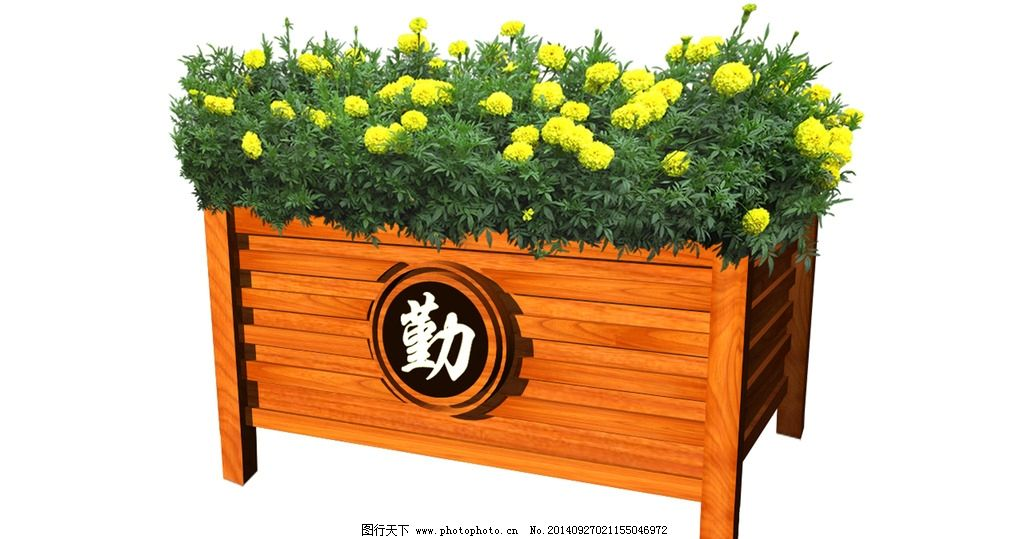 木质花坛图片_3d作品设计