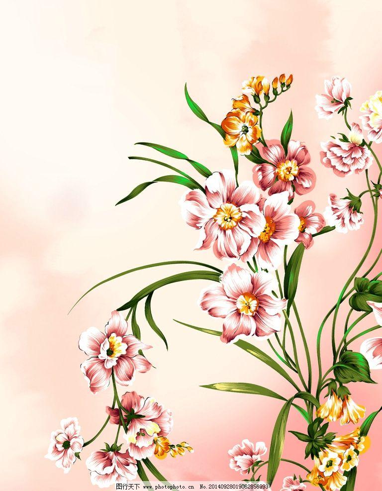 可爱花朵背景图片