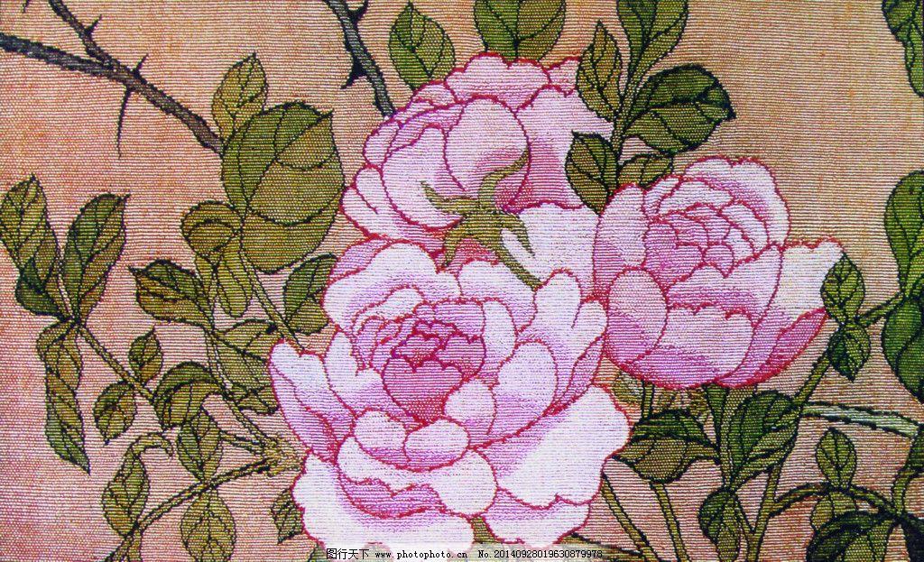 粉色牡丹免费下载 花朵 树枝 艺术 花朵 树枝 艺术 图片素材 文化艺术