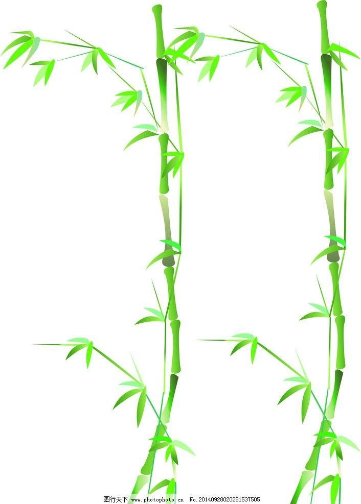 竹子矢量图 竹子 卡通竹子 绿色竹子 中国风竹 花类 设计 底纹边框
