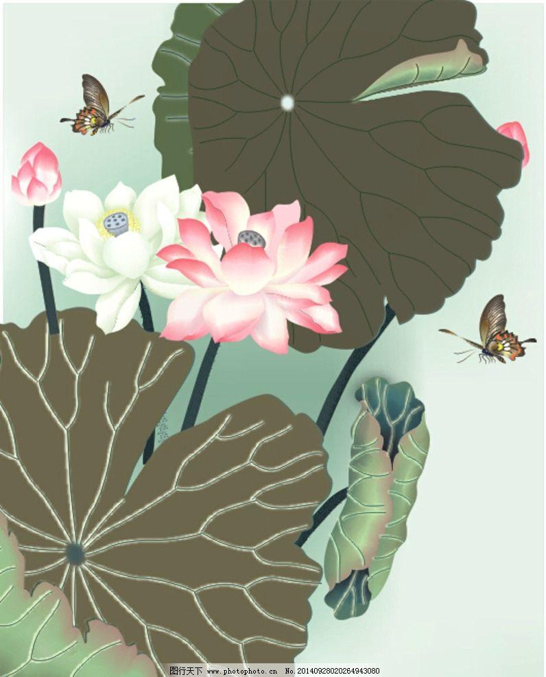 底纹边框 背景-水墨中国风设计 梅花 喜鹊 天鹅 山水画 桥船 天空 古风