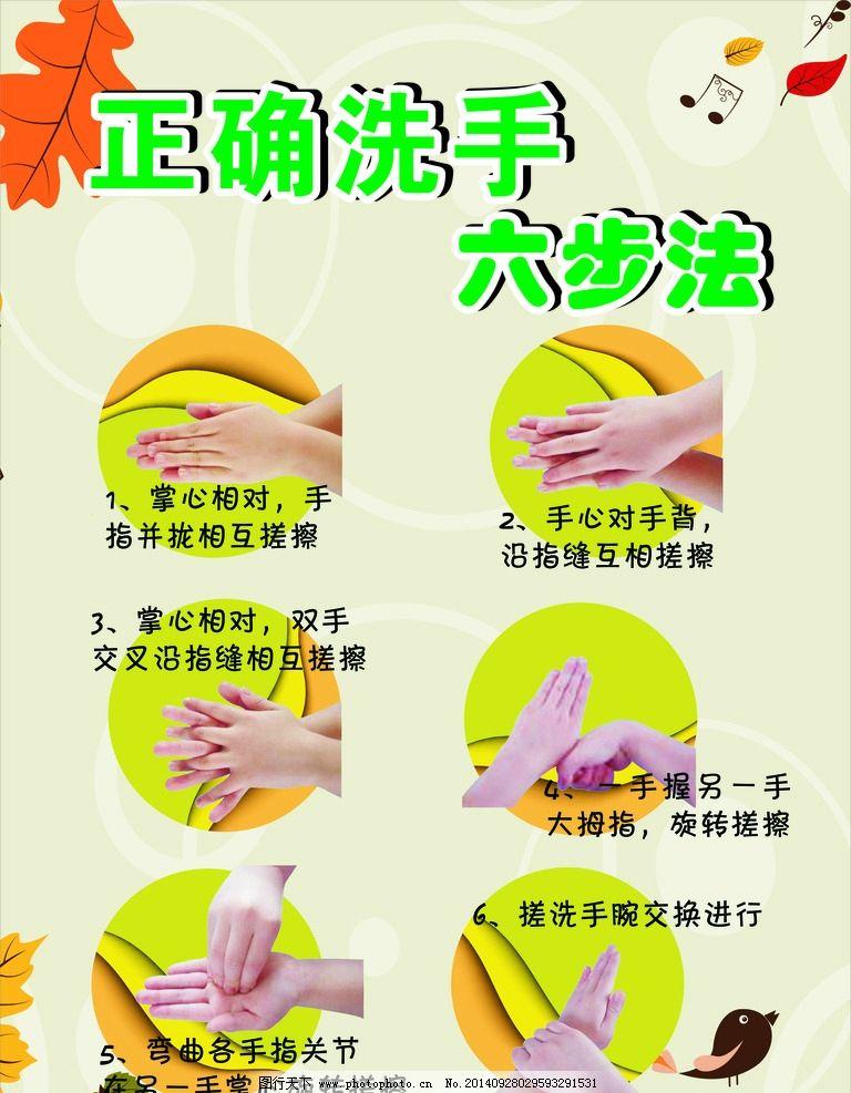 六步洗手法海报图片