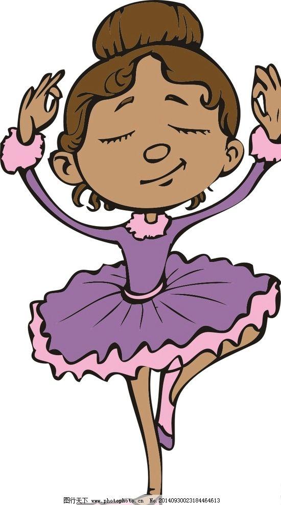 卡通 可爱 女孩 芭蕾舞