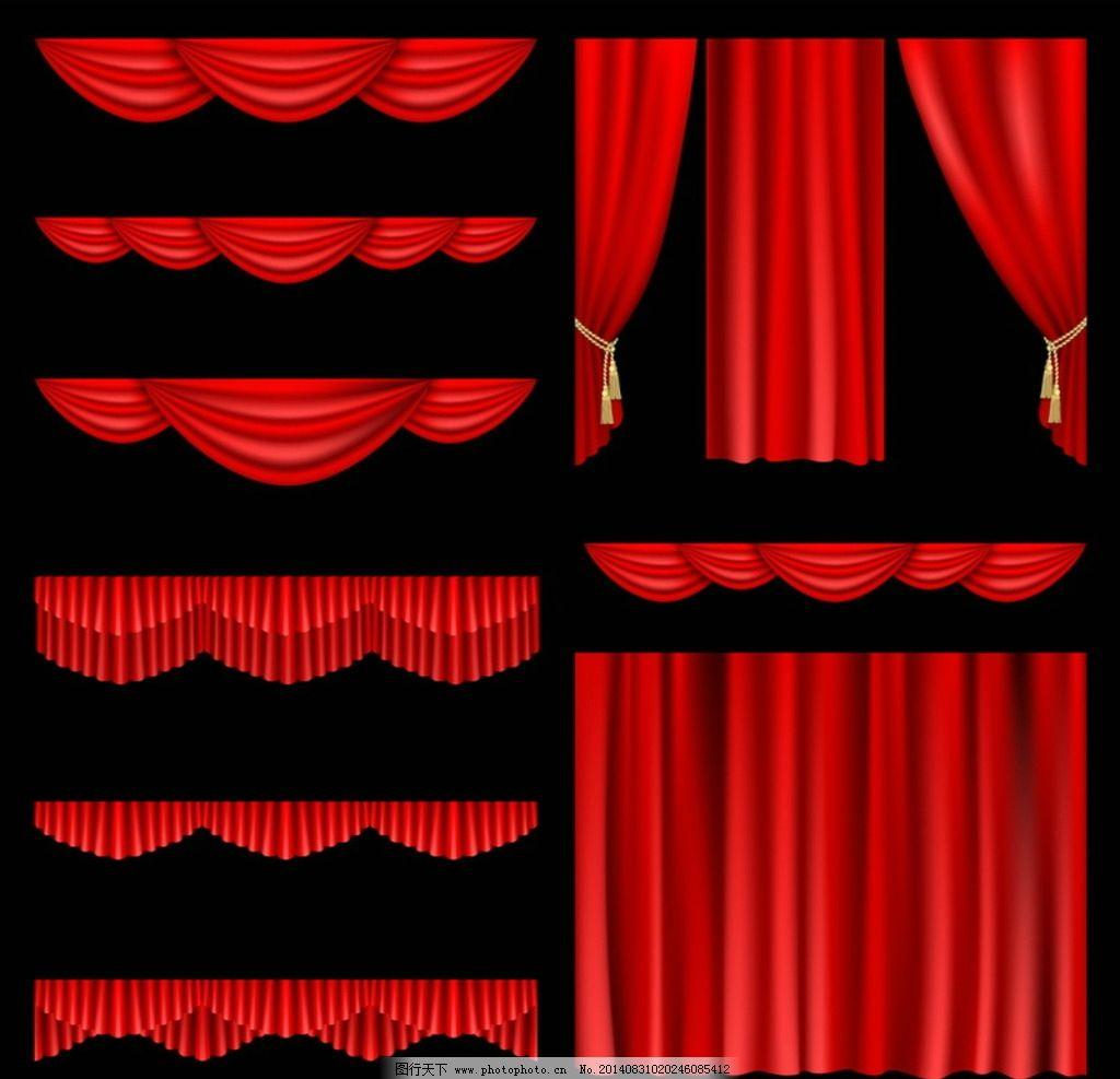 红色帷幕,红色舞台幕布,淘宝,促销广告,大促,拉开,开幕